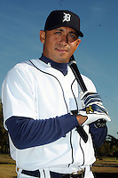 Feb 21, 2009; Lakeland, FL, USA; The Detroit Tigers outfielder Carlos Guillen (9) during photoday at Tigertown. Mandatory Credit: Tomasso De Rosa/ Four Seam Images