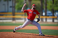 Boston Red Sox pitcher Zach Schellenger (58) during a Minor League Spring Training game against the Tampa Bay Rays on March 25, 2019 at the Charlotte County Sports Complex in Port Charlotte, Florida.  (Mike Janes/Four Seam Images)