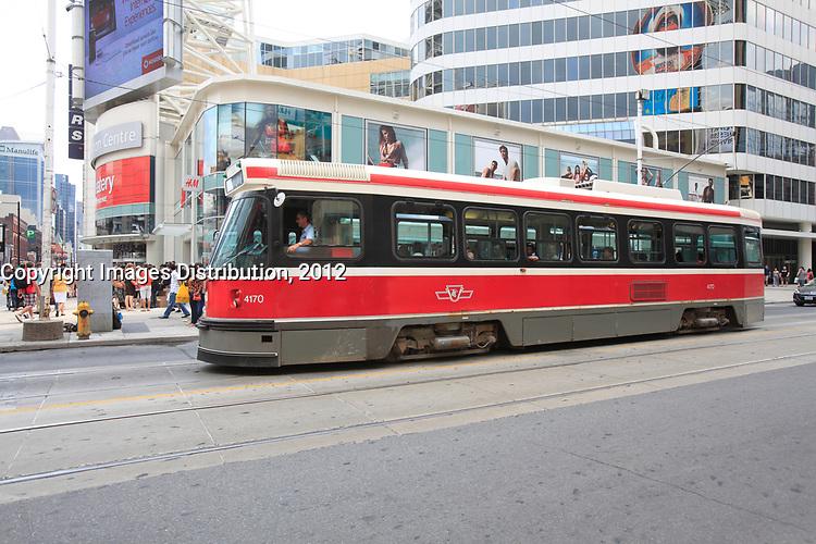 Toronto (ON) CANADA - July 2012 - tramway , EATON CENTRE
