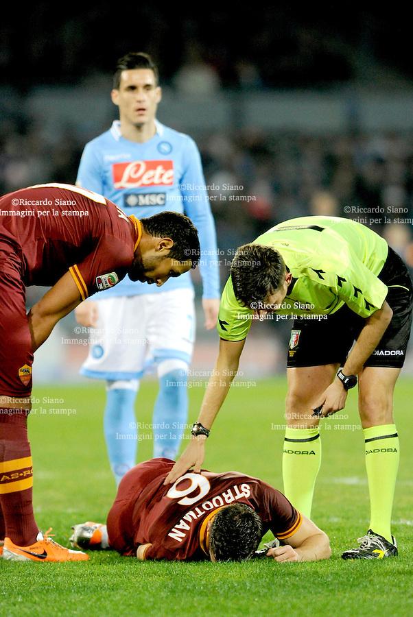 - NAPOLI 9 MAR  -  Stadio San Paolo    Napoli - Roma<br />  infortunio a strootman