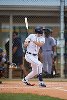 Detroit Tigers Parker Meadows (17) at bat during an Instructional League instrasquad game on September 20, 2019 at Tigertown in Lakeland, Florida.  (Mike Janes/Four Seam Images)