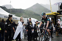 Wout Poels (NLD/SKY) finishing stage 9 in Andorra Arcalis (coming from Velha Val d'Aran/ESP, 184km)<br /> <br /> 103rd Tour de France 2016