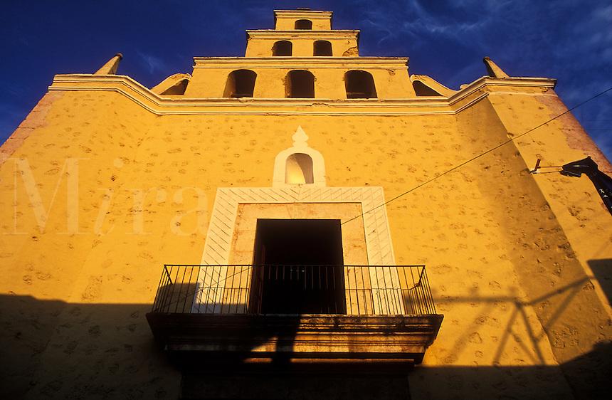 Mexico, Yucatan State, Merida, Colonial building