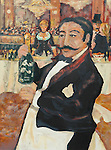 """""""Garcon des Folies Bergere""""<br /> Limited Edition Lithograph 25x19<br /> SN $750<br /> With Original Watercolor Remarque $1,150"""
