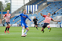 Ben Stevenson of Colchester United cooly finishes to score the opening goal during Colchester United vs Oldham Athletic, Sky Bet EFL League 2 Football at the JobServe Community Stadium on 3rd October 2020