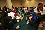 Palestinian Journalists participate in a ceremony to mark Palestinian Journalist Day in Gaza city on Dec. 31, 2015. Photo by Mohammed Asad