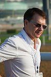 DUBAI,UNITED ARAB EMIRATES-MARCH 30: The trainer,Aidan O'Brien, at Meydan Racecourse on March 30,2018 in Dubai,United Arab Emirates (Photo by Kaz Ishida/Eclipse Sportswire/Getty Images)