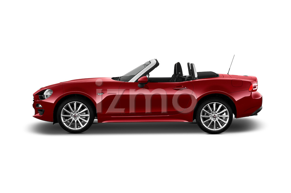 Car Driver side profile view of a 2016 Fiat 124-Spider Lusso 2 Door Convertible Side View