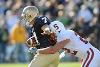 South Bend, IN - OCTOBER 4:  Safety Bo McNally #22 of the Stanford Cardinal during Stanford's 28-21 loss against the Notre Dame Fighting Irish on October 4, 2008 at Notre Dame Stadium in South Bend, Indiana.