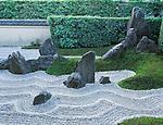 Asia, Japan, Kyoto, Daitokuji Temple, Zuiho-in Temple Rock Garden