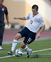 Dominick Sarle controls the ball. US Under-17 Men's National Team defeated United Arab Emirates 1-0 at Gateway International  Stadium in Ijebu-Ode, Nigeria on November 1, 2009.