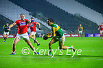 Paul Kerrigan, Cork, in action against David Clifford, Kerry during the Munster GAA Football Senior Championship Semi-Final match between Cork and Kerry at Páirc Uí Chaoimh in Cork.