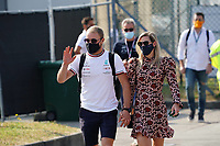 12th September, September 2021; Nationale di Monza, Monza, Italy; FIA Formula 1 Grand Prix of Italy, Race day; Valtteri Bottas FIN 77 , Mercedes AMG Petronas Formula One Team with girlfriend Tiffany Cromwell