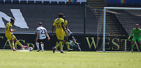 17th April 2021; Liberty Stadium, Swansea, Glamorgan, Wales; English Football League Championship Football, Swansea City versus Wycombe Wanderers; Garath McCleary of Wycombe Wanderers shoots to score his sides second goal to make it 0-2 in the 51st minute