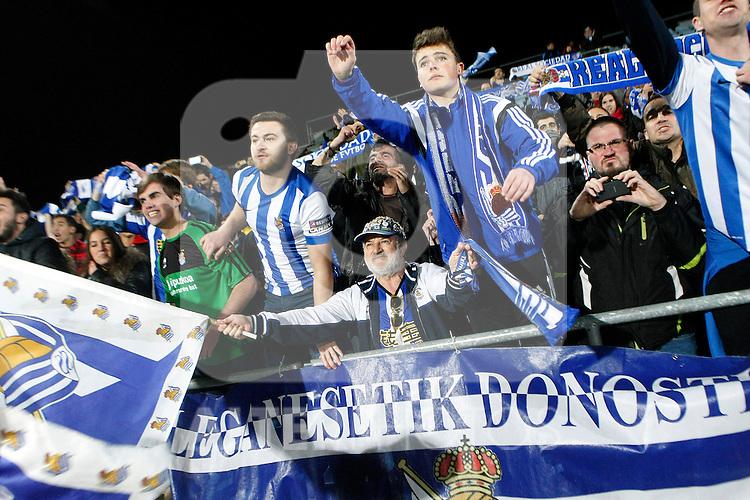 Real Sociedad's supporters during La Liga match.March 16,2015. (ALTERPHOTOS/Acero)