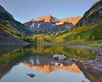 Maroon Bells at Dawn, Colorado