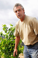 Alain Caujolle-Gazet Domaine des Grecaux in St Jean de Fos. Montpeyroux. Languedoc. Owner winemaker. France. Europe. Vineyard.