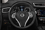 Car pictures of steering wheel view of a 2014 Nissan Qashqai Tekna 5 Door SUV