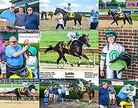 Lebda winning at Delaware Park on 8/22/19