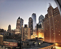 New York City buildings.  Still Frame from a GoPro Hero 2 camera.  (Photo by Brian Cleary/ www.bcpix.com )