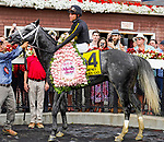 August 07, 2021: Knicks Go #4, ridden by jockey Joel Rosario wins the $1 million Whitney Stakes (Grade 1) at Saratoga Race Course in Saratoga Springs, N.Y. on August 7, 2021. Dan Heary/Eclipse Sportswire/CSM