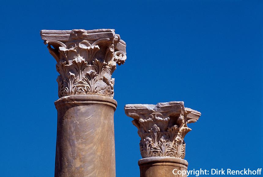 Nordzypern, antike Stadt Salamis, Säule bei den römischen Bädern.