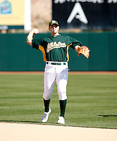 Bobby Crosby - Oakland Athletics - 2009 spring training.Photo by:  Bill Mitchell/Four Seam Images