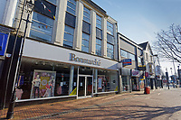 Pictured: The closed down Bonmarche shop in Neath city centre, Wales, UK. Friday 27 March 2020<br /> Re: Covid-19 Coronavirus pandemic, UK.