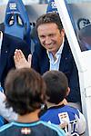 Real Sociedad's coach Eusebio Sacristan during La Liga match. August 21,2016. (ALTERPHOTOS/Acero)