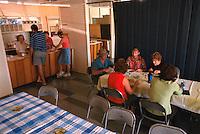 The Luchroom, Joan Wallis and Katica Benjak (serving) Midge and Pat Gibb, Bev Allen, Loretta Sclippa and Gwen Whitely (seated) Mareeba Sales Floor, Mareeba, 2004.