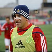 22 April 2009: Chivas USA forward Alecko Eskandarian #7 during the warm-up at BMO Field in a MLS game between Chivas USA and Toronto FC.Toronto FC won 1-0. .