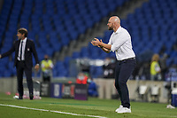 30th August 2020, San Sebastien, Spain;   Stephan Lerch, head coach of VfL Wolfsburg in action during the UEFA Womens Champions League football match Final between VfL Wolfsburg and Olympique Lyonnais.