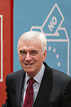 © Joel Goodman - 07973 332324 . 28/09/2016 . Liverpool , UK . JOHN MCDONNELL touring the exhibition during the final day of the Labour Party Conference at the ACC in Liverpool . Photo credit : Joel Goodman