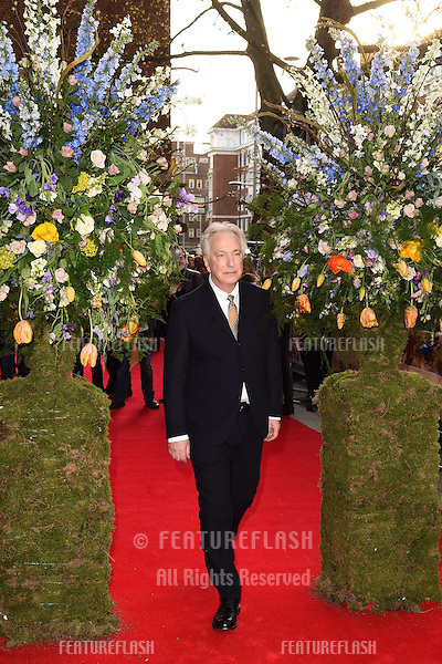 """Alan Rickman arrives for the premiere of """"A Little Chaos"""" at the Odeon Kensington, London. 13/04/2015 Picture by: Steve Vas / Featureflash"""