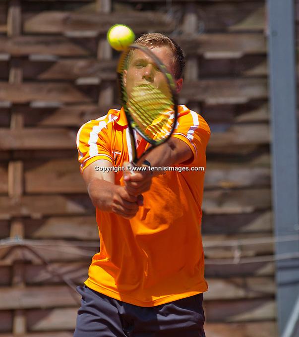 Austria, Kitzbühel, Juli 18, 2015, Tennis,  Junior Davis Cup,  Bart Stevens (NED) <br /> Photo: Tennisimages/Henk Koster