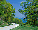 Blue Ridge Parkway, VA<br /> Blue Ridge Parkway winds along the mountain ridges in early spring