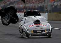 Mar. 17, 2013; Gainesville, FL, USA; NHRA pro stock driver Greg Anderson during the Gatornationals at Auto-Plus Raceway at Gainesville. Mandatory Credit: Mark J. Rebilas-