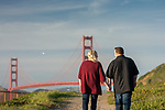 Amber & Mike at the Palace of Fine Arts and Baker Beach.