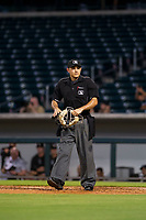Home plate umpire Angel Suarez during the game between the AZL White Sox and AZL Cubs August 13, 2017 at Sloan Park in Mesa, Arizona. AZL White Sox defeated the AZL Cubs 7-4. (Zachary Lucy/Four Seam Images)