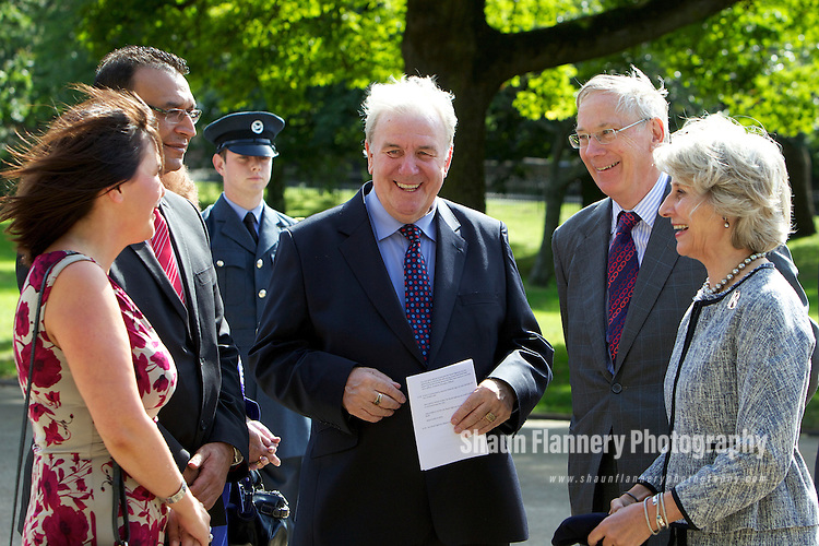 Pix: Shaun Flannery/shaunflanneryphotography.com...COPYRIGHT PICTURE>>SHAUN FLANNERY>01302-570814>>07778315553>>..6th September 2012..Rotherham Metropolitan Borough Council (RMBC)..Visit by His Royal Highness The Duke of Gloucester KG GCVO and Duchess of Gloucester to Clifton Park, Rotherham.