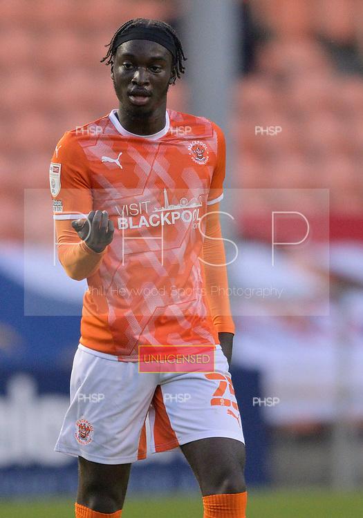 24/08/2021 Carabao Cup 2nd Round Blackpool v Sunderland <br /> <br /> Cameron Antwi, Blackpool FC