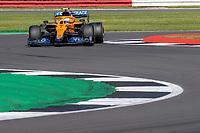 18th July 2021; Silverstone Circuit, Silverstone, Northamptonshire, England; Formula One British Grand Prix, Race Day; McLaren F1 Team driver Lando Norris in his McLaren MCL35M Mercedes-AMG F1 M12