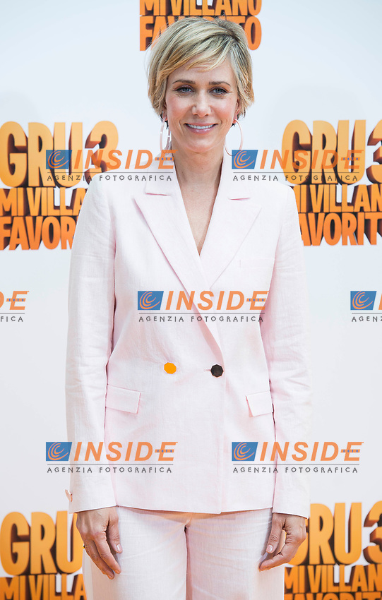 American actress Kristen Wiig attends to the presentation of film 'Gru, Mi Villano Favorito 3' (Despicable Me 3 ) in Madrid, June 20, 2017. Spain.<br /> (ALTERPHOTOS/BorjaB.Hojas)<br /> <br /> Cattivissimo 3 Photo Call Madrid <br /> Foto ALTERPHOTOS/BorjaB.Hojas/Insidefoto