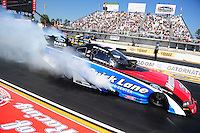 Mar. 13, 2011; Gainesville, FL, USA; NHRA funny car driver Bob Tasca III during the Gatornationals at Gainesville Raceway. Mandatory Credit: Mark J. Rebilas-