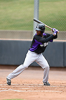Colorado Rockies outfielder Raimel Tapia (18) during an Instructional League game against the Arizona Diamondbacks on October 8, 2014 at Salt River Fields at Talking Stick in Scottsdale, Arizona.  (Mike Janes/Four Seam Images)