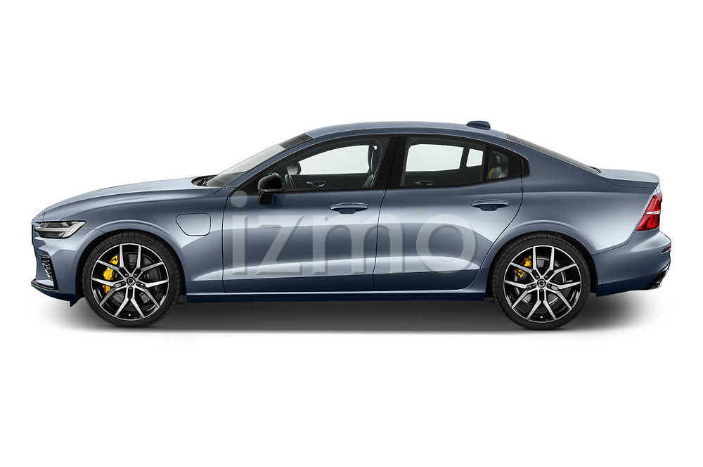 Car Driver side profile view of a 2021 Volvo S60-Recharge Polestar 4 Door Sedan Side View