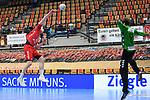 Ludwigshafens Hendrik Wagner (Nr.28) gegen Essens Bliss, Sebastian  beim Spiel in der Handball Bundesliga, Die Eulen Ludwigshafen - Tusem Essen.<br /> <br /> Foto © PIX-Sportfotos *** Foto ist honorarpflichtig! *** Auf Anfrage in hoeherer Qualitaet/Aufloesung. Belegexemplar erbeten. Veroeffentlichung ausschliesslich fuer journalistisch-publizistische Zwecke. For editorial use only.