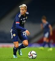 21st September 2021; Hampden Park, Glasgow, Scotland: FIFA Womens World Cup qualifying, Scotland versus Faroe Islands; Lana Clelland of Scotland on the ball