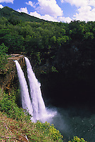 Wailua Falls located in the central part of the island of Kauai, Hawaii