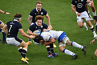 Duncan Weir of Scotland and Marco Lazzaroni of Italy during the rugby Autumn Nations Cup's match between Italy and Scotland at Stadio Artemio Franchi on November 14, 2020 in Florence, Italy. Photo Andrea Staccioli / Insidefoto